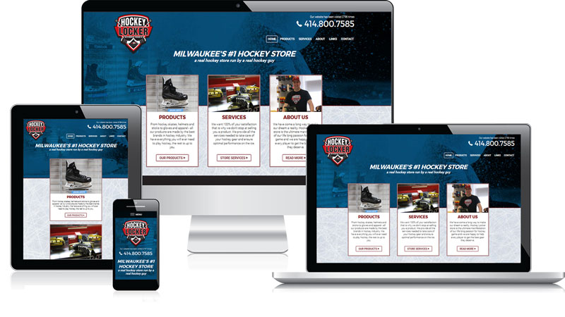 Hockey Locker Responsive Website Design