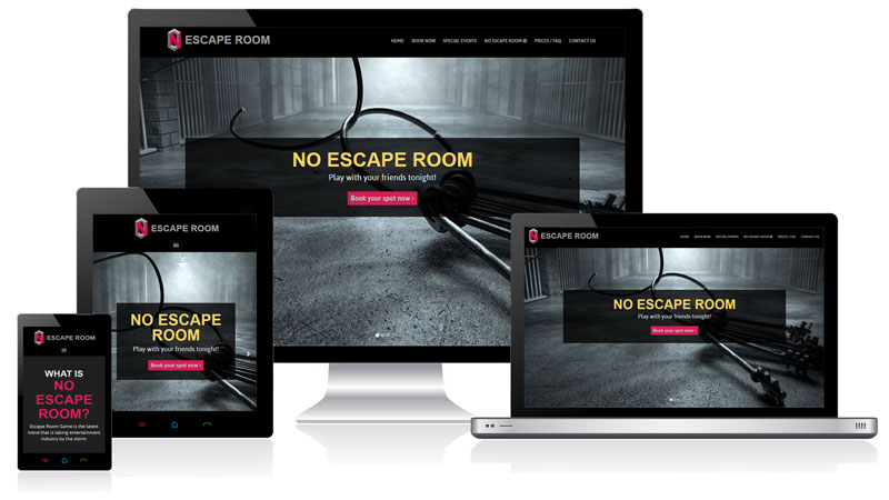 No Escape Responsive Website Design