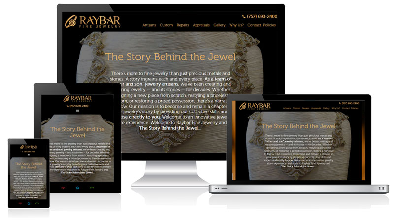 Raybar Responsive Website Design