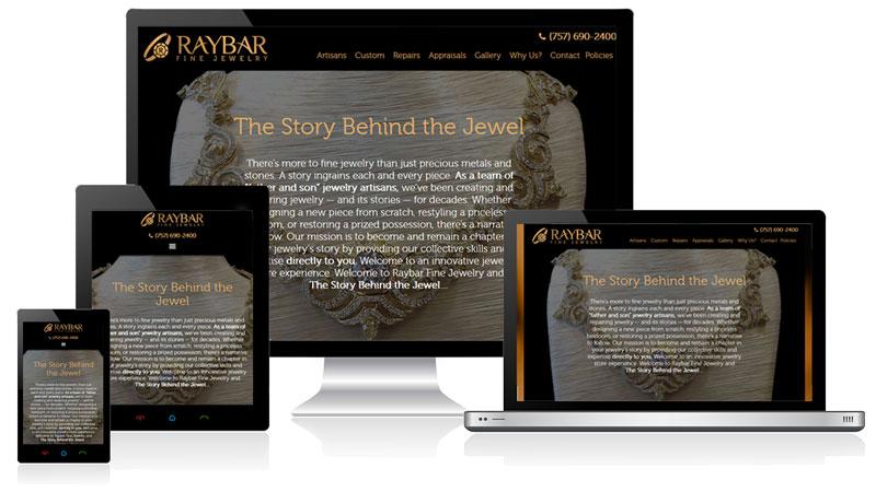 Raybar Responsive Website Design
